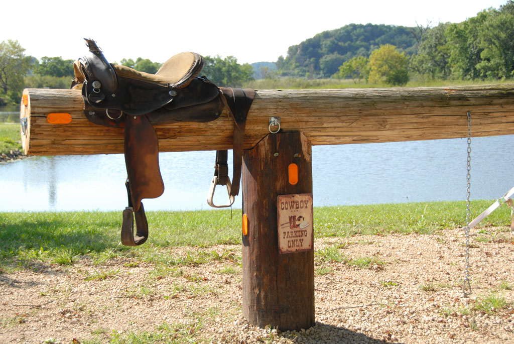 hitching post at The Schellter Bar & Grill